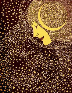 """Lady of the Night"" Illustration de l'artiste américain Don Blanding Art Inspo, Kunst Inspo, Inspiration Art, Art And Illustration, Illustration Nocturne, Fantasy Magic, Moon Art, Art Design, Stars And Moon"