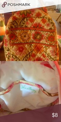 Very Bradley lunch tote Well-loved VB lunch tote. Discolorations and stains from normal use, but still has a lot of use left!  No rips or tears. Vera Bradley Bags