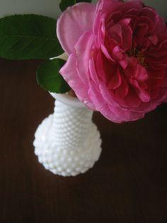 Cute milk glass hobnail bud vase by PasadenaPixie on Etsy, $10.00
