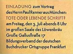 Paul Renner - Font Designer of Futura and Plak