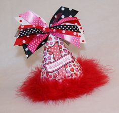 LAST ONE  Red Black and Pink Ladybug and Polka Dot