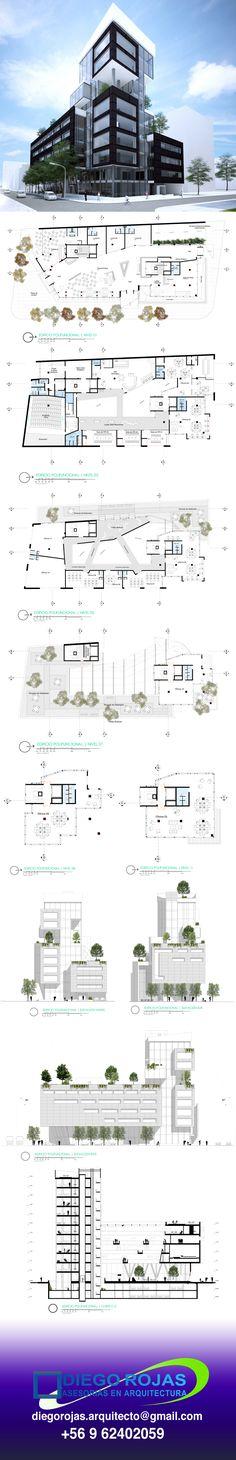 [Polifuncional Office Building - Architectural Record ]- [Edificio de Oficinas Polifuncional - Ficha arquitectura]