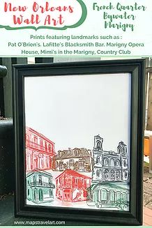 The last of the New Orleans Gift Guides is here. This post features Bywater & Marigny art prints.