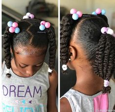 """Today is .so we have gym hair per her request 🤷🏾♀️🤣 No bows, barrettes, or beads. Just ole skool """"knockers"""" 🤣😂 and scrunches. Styled with our Whipped Mango Butter, edges laid w/ and a little added shine from Lil Girl Hairstyles, Natural Hairstyles For Kids, Kids Braided Hairstyles, Childrens Hairstyles, Toddler Hairstyles, Black Children Hairstyles, Short Haircuts, Mixed Kids Hairstyles, Quince Hairstyles"""