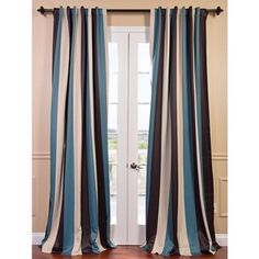 @Overstock.com - Key Largo Stripe Blackout Curtain Panel - You will instantly fall in love with our blackout curtains and drapes. The fabric is super soft with a refined texture made with a special polyester yarn. These curtains keep the light out and provides optimal thermal insulation.  http://www.overstock.com/Home-Garden/Key-Largo-Stripe-Blackout-Curtain-Panel/8276496/product.html?CID=214117 $38.69