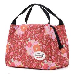 Fashion Brand Aosbos's Quality Insulated Canvas Lunch Bag - Great Picnic-Camping-Lunch Bags