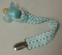 Teal Baby Boy Snap Pacifier Clip by DumaisDesigns on Etsy, $5.50