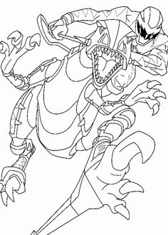 power rangers dino thunder rides a robot coloring page - Power Rangers Dino Coloring Pages
