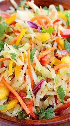 bell pepper recipes Try this colorful, mayo-free Tex-Mex slaw as a side dish for your next BBQ, or Carnitas, Barbacoa, Slaw Recipes, Mexican Food Recipes, Healthy Recipes, Ethnic Recipes, Diet Recipes, Carne Asada, Tamales