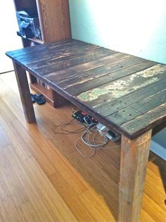 reclaimed wood for outside tables!