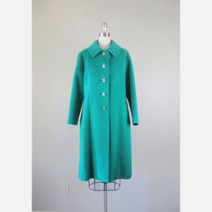 '60s Cashmere Coat Kelly Green now featured on Fab.