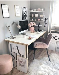 Chic office space. Desk