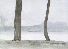 Kungs-Parken 5 - 2011 Óleo sobre papel y tabla - 24 X 33 cm arte, artista, galería, pintura, exposición, arte moderno, art, artist, gallery, artgallery, painting, exhibition, modern art, original, canvas