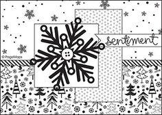 Sketch: December Card Sketch Challenge Sketch #5