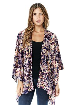 Eloise Kimono Robe #blue #bohemian #boho #fashion #kimono #lovestitch #one-size #purple #style #womens-apparel #womens-clothing #womens-fashion
