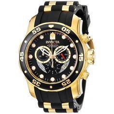 Relógio masculino Invicta 6981 Pro Diver banhado a ouro 18k