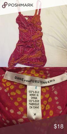 Diane Von Furstennerg silk summer top Size Medium. 100% silk Diane von Furstenberg Tops Tank Tops