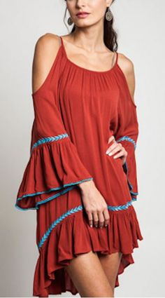 Flamenco Bell Sleeves Dress