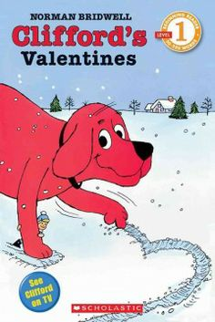 Saturday, February 8, 2014. Clifford, the big red dog, makes a snowy valentine for his friends.