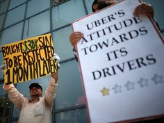 Two Uber drivers in New York are eligible for unemployment which could threaten Uber's business model