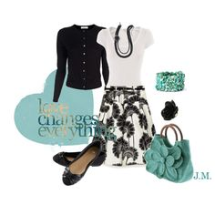 Turquoise, created by jenniemitchell on Polyvore