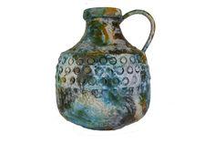 Sea Garden midcentury large handle vase by Alvino Bagni for Raymor