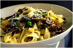 Mushroom and Anchovy Tagliatelle