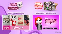 Watch the other videos I made for you and subscribe to my channel. And remember to check out the Talking Tom and Friends YouTube channel and watch our super cool new show.  xo, Talking Angela #talkingangela #mytalkingangela #LittleKitties