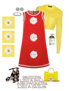 """""""sunny side up:)"""" by queenchelleisboomkoo on Polyvore featuring Dolce&Gabbana and Kobelli"""