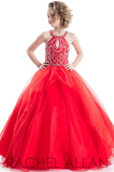 Pick crown-worthy pageant dresses designs from Rachel Allan Prima Donna Collection: lace evening pageant gowns, beauty contests dress, & princess prom dresses. Little Girl Pageant Dresses, Princess Prom Dresses, Pageant Gowns, Cute Dresses, Girls Dresses, Flower Girl Dresses, Dress Girl, Dress Red, Ankara Styles For Kids