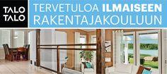 Kaksipäiväinen rakentajakoulu TaloTalolla 2-3.11.2016 klo 17.30 - 21.00! Kenelle:  rakentajakoulu on tarkoitettu omakotitalon tai loma-asunnon rakentamista suunnitteleville tai siitä haaveileville asiakkaille. Kurkkaa lisää tietoa koulutusillasta ja Ilmoita itsesi ja ystäväsi mukaan osoitteessa www.talotalo.fi/tapahtumat ! Tervetuloa!