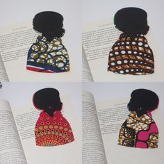 Bookmark, woman bookmark, African fabric, african bookmark, Ankara bookmark, gift for her, readers gift, book lover gifts, reading gift by MissSemedoCreations on Etsy