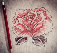 A rose by http://instagram.com/cole_tattoo