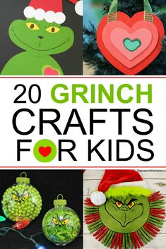 20 Grinch Crafts For Kids