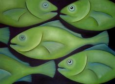 Love Love Love it!  Google Image Result for http://images.fineartamerica.com/images-medium/swimming-green-fish-georgie-greene.jpg