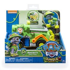 Paw Patrol - Jungle Rescue - Rocky's Jungle Truck - Walmart.com