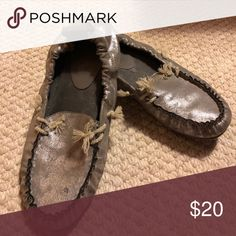 I just added this listing on Poshmark: Pewter moccasins. #shopmycloset #poshmark #fashion #shopping #style #forsale #Ruff Hewn #Shoes