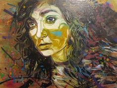"Circea  Mixed Media Stencil on Wood 20x25.5"" $2,600"