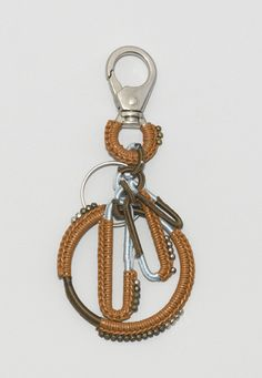 crocheted keyring. This would be cute with a silver carabiner {sp?} and aqua thread ^_^