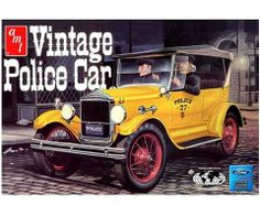 AMT 1927 Model T Vintage Police Car - 1/25 Scale Plastic Model Kit