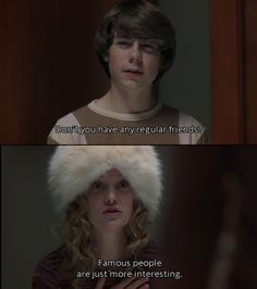 William Miller and Penny Lane; Patrick Fugit and Kate Hudson in Almost Famous.