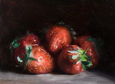 daily painting titled First strawberries - click for enlargement