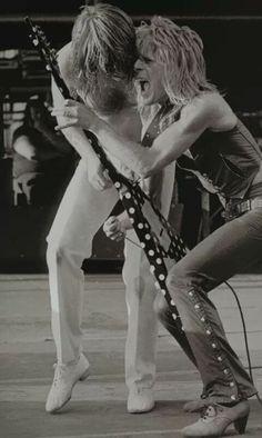 Ozzy Osbourne and Randy Rhoads..........
