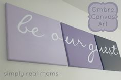 DIY Ombre Canvas Art