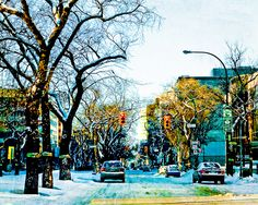 On Broadway by Carla Dyck Shot in Winnipeg, Canada The Province, City Life, Old Houses, My Images, Places To Travel, Broadway, Canada, Memories, Winter