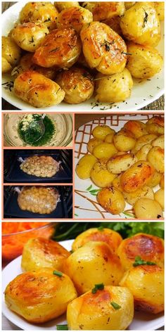 Batatas para a mesa festiva - rapidamente, prove . Chicken Lunch Recipes, Easy Soup Recipes, Potato Recipes, Food Dishes, Side Dishes, Healthy Cooking, Cooking Recipes, Dinner Rolls Recipe, Good Food