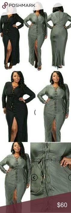 Plus Size Elegant Silky Tie Up Slit Front Maxi Plus Size Elegant Silky Tie Up Slit Front Maxi Dress Content: 95% POLYESTER,5% SPANDEX ComeCorrect  Dresses Maxi