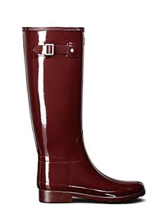 Hunter Original Refined Tall Gloss Dulse Red Womens Rain Boots 5      Continue to the product at the image link. 2e4abf4572e