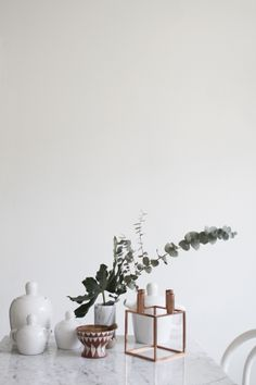 Bulky tea set by Muuto and Kubus candleholder from by Lassen via Varpunen.