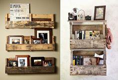 Casa Bellissimo - Dicas de Arquitetura - Design - Lifestyle - Interiores - Urbanismo: Decorando com caixas de madeira Recycled Pallets, Thinking Outside The Box, Diy Recycle, Recycling, Naan, Floating Shelves, Crates, Shelving, Diy Home Decor